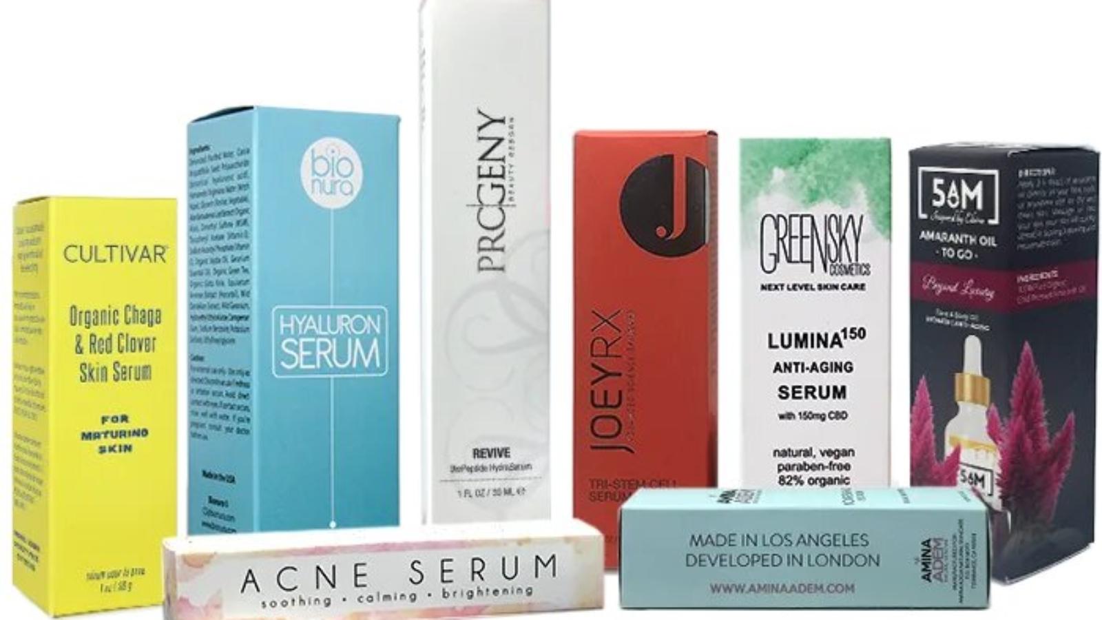 Custom Serum Packaging Boxes Wholesale